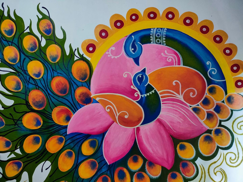 Mural Magenta Henna